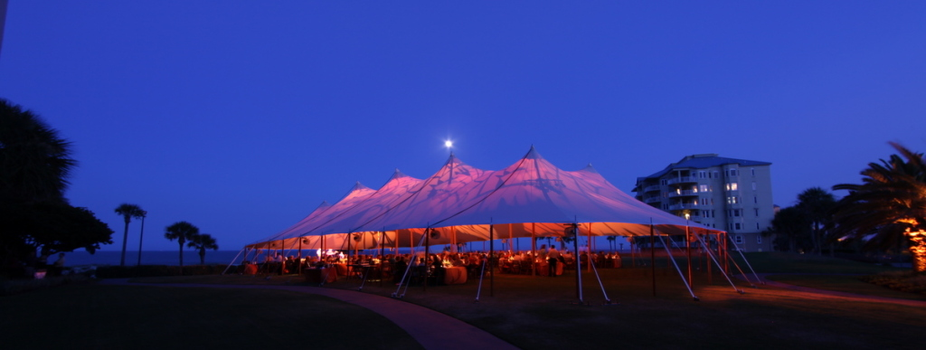 The 66' x 126' tent on the beach in Florida.
