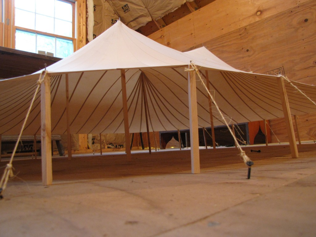 A small scale model for the 66 x 66 tent.