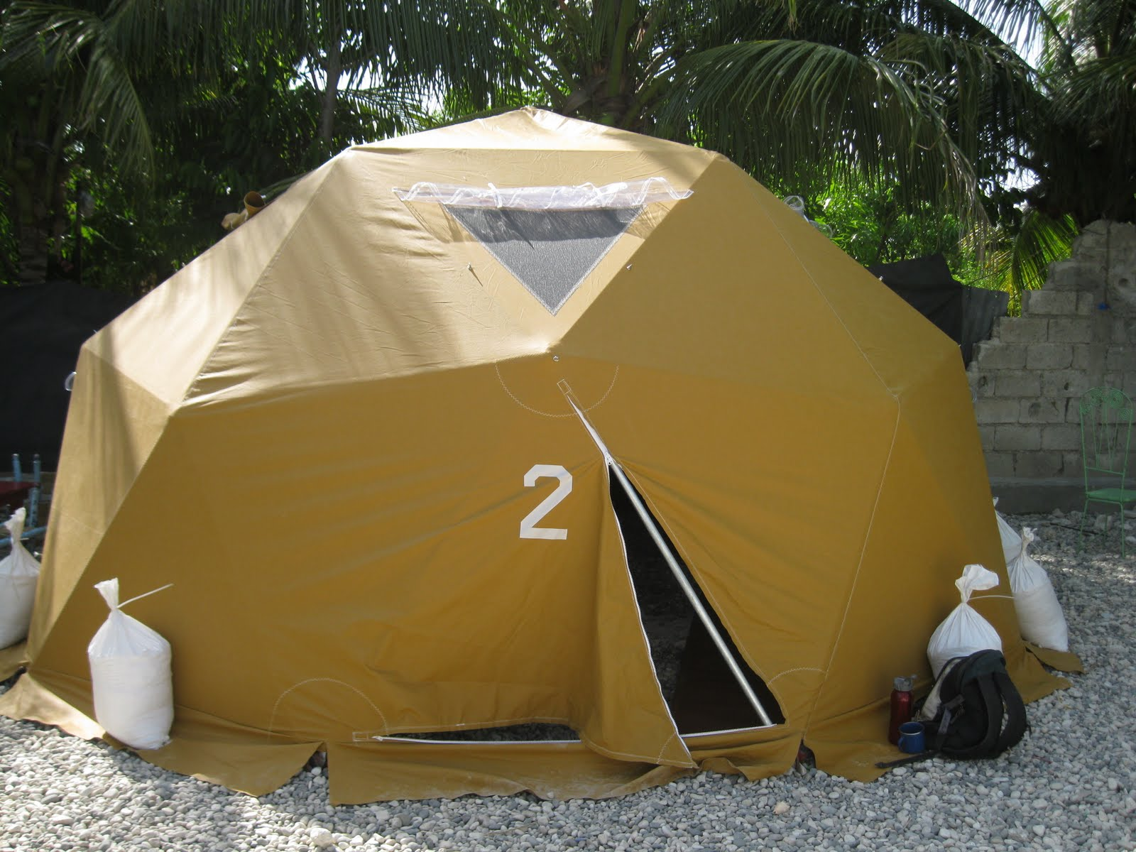Dome #2, set up in Haiti.